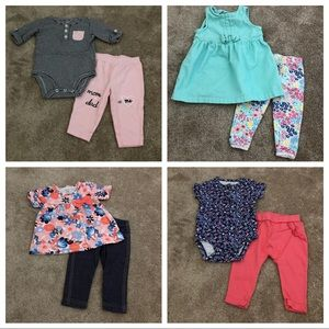 Carter's 6 month baby girl clothes lot